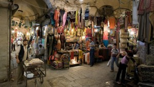 Tunnel vision: Rich shopping in the Damascus souk. © Michele Falzone/JAI/Corbis