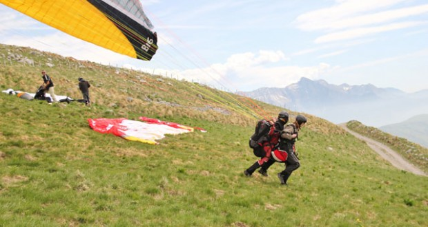 Slovenia: Paragliding above the Soca