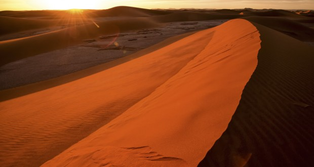 Sunset at the dunes. Image: Julian McLean