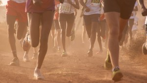 Lewa Marathon - Runners take to the dusty track