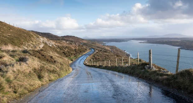 Sky Road looking towards Clifden in Connemara, Wild Atlantic Way, West Ireland. Image: Scott Wishart