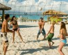 Teens playing volleyball, Turks & Caicos