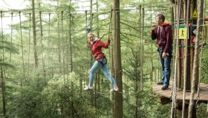Zip-wire, Go Ape Alice Holt Forest, Hampshire, UK. Image: Trent Park