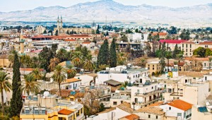 View to Nicosia, with the Turkish side of Cyprus in background. Image: Getty