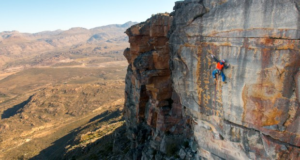 Trad climbing in the Western Cape