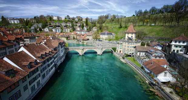 River Aare in Bern. Image: Getty