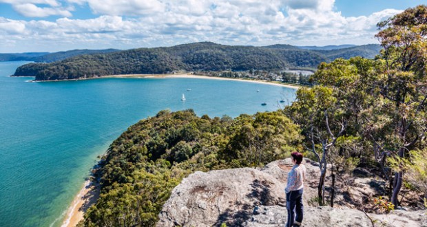 The view of the Hawkesbury River, Brisk Bay and Patonga Beach. Image: Getty