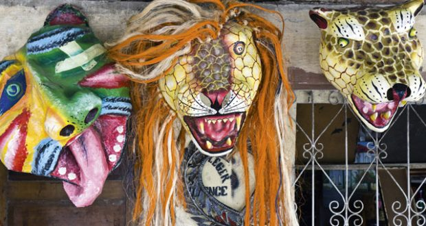 Carnival masks, Jacmel, Haiti. Image: Getty