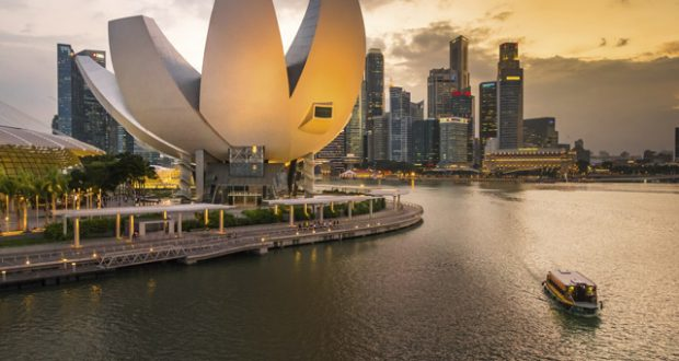 View of the Singapore Science Museum from the Helix Bridge. Image: Duncan Longden