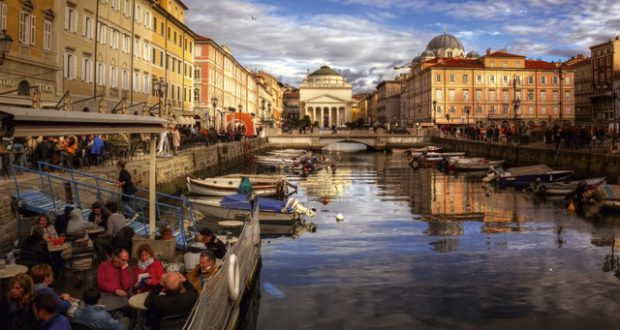 The canal, Trieste. Image: Getty