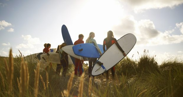 Where to book a UK family surfing break