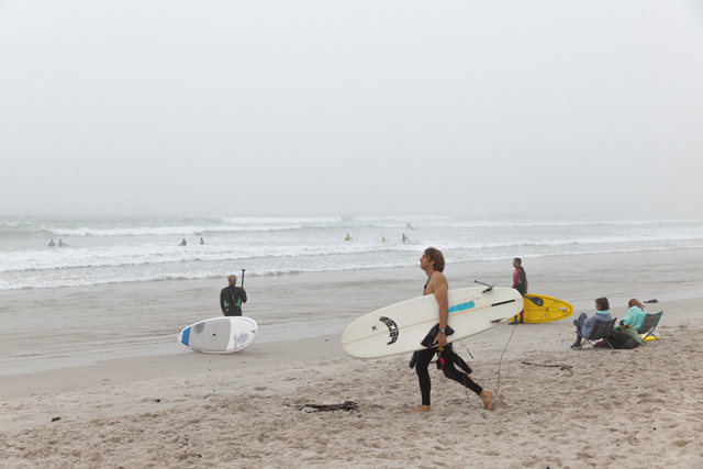 Muizenberg Beach surfers. Image: Alyson Smith