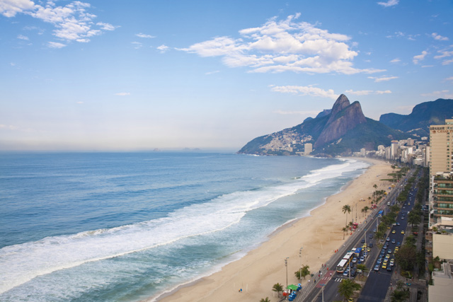 View of Ipanema Beach, looking towards Leblon. Image: Getty