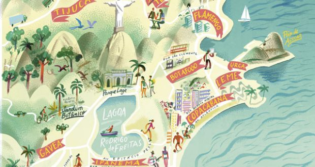 Rio neighbourhoods. Illustration: Nik Neves