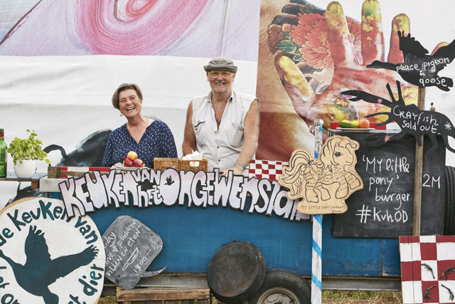 Rob Hagenouw and Nicolle Schatborn, owners of the Kitchen of the Unwanted Animal food van. Image: Richard James Taylor