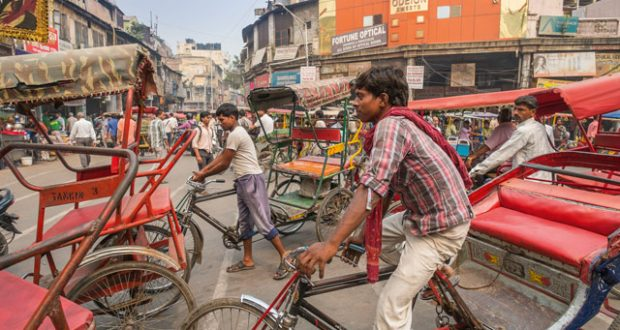 The busy quarter of Chandni Chowk. Image: SuperStock