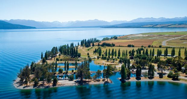 The marina at Lake Te Anau. Image: Alamy