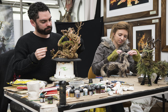 Weta Workshop Personal Tour artists. Image: Weta Workshop