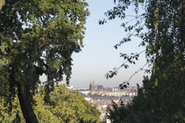 View of Prague Castle and the Old Town from Riegrovy Sady, in the Vinohrady district. Image: Slawek Kozdras