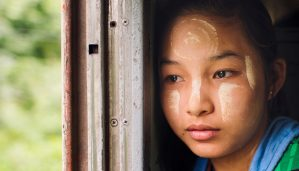 Girl on The Mandalay Express, Myanmar. Image: Tristan Bejawn