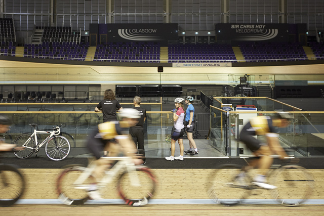 Sir Chris Hoy Velodrome, Commonwealth Arena. Credit: Nick Warner