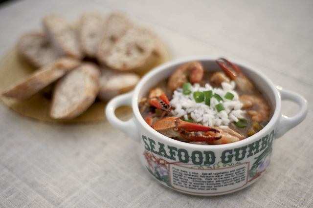 Seafood gumbo, a traditional Cajun staple. Credit: Louisiana Office of Tourism