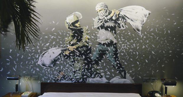 Bed down in a Banksy hotel