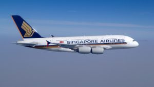 Singapore Airlines A380 aircraft exterior