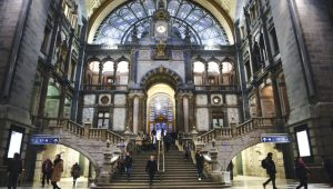 Antwerpen-Centraal station hall. Image: Getty