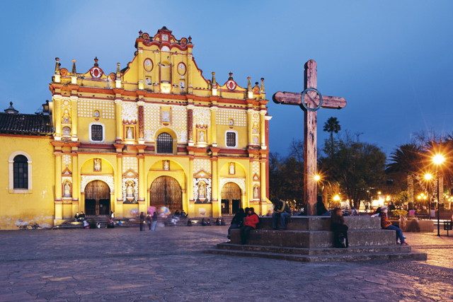 The cathedral of San Cristobal de las Casas. Image: Alamy