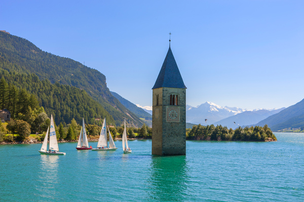 Sailing in South Tyrol