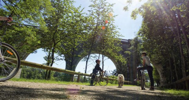 Cycling on the Green line, Ohis. Image: Alamy