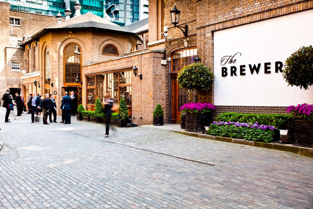 The Brewery courtyard