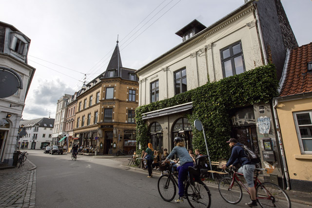 Aarhus's cycle-friendly streets. Image: Nori Jemil
