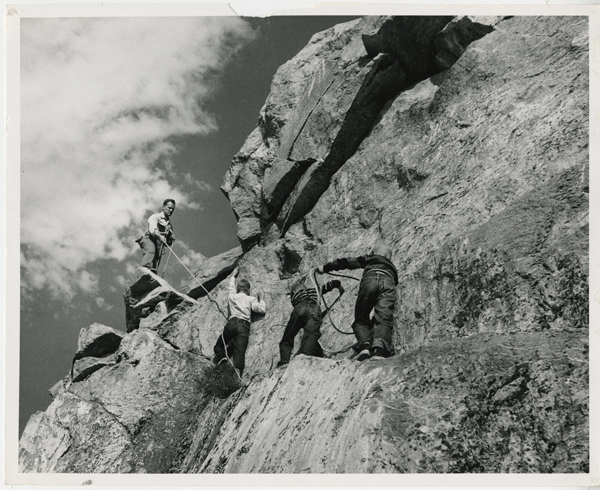 Ralph Lowe with Mike, Greg, Jeff in Ogden Utah, USA, 1957